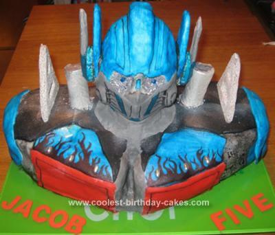 Homemade Transformer Cake
