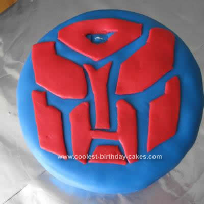 Homemade Transformer Cake Design