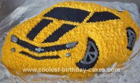 HomemadeTransformer Camaro Bumblebee Cake