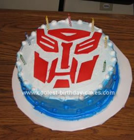 Sensational Coolest Transformers Birthday Cake Funny Birthday Cards Online Elaedamsfinfo