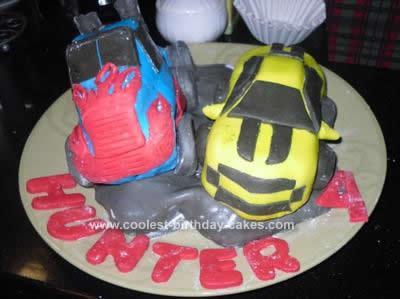 Homemade Transformers Birthday Cake