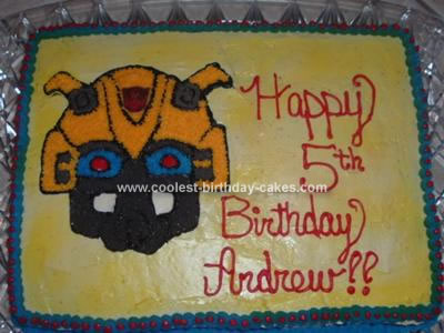 Homemade Transformers Bumblebee Cake
