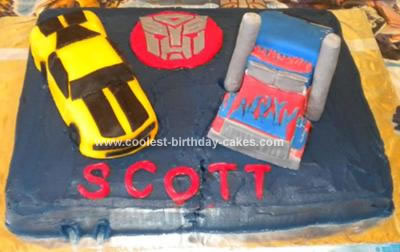 Homemade Transformers Cake