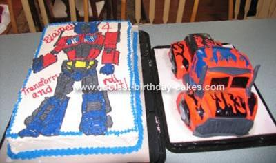 Transformers Optimus Prime Cake