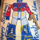 Homemade Transformers Optimus Prime Cake