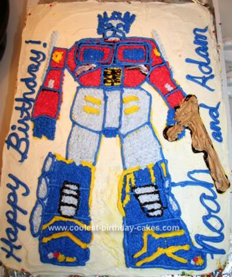 Homemade Transformers Optimus Prime Cake