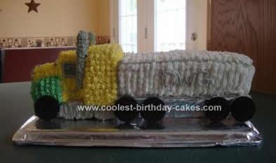 Homemade Transport Truck Birthday Cake