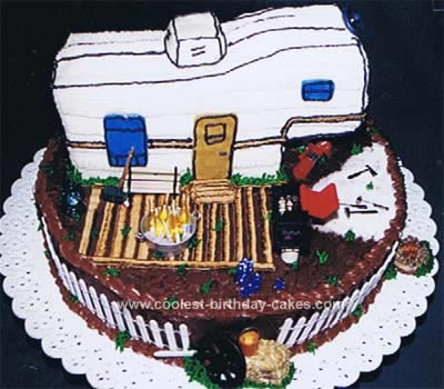 Homemade Travel Trailer Retirement Cake