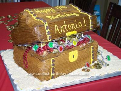 Homemade Treasure Box Cake