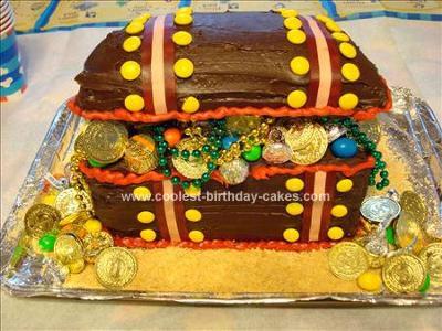 Homemade Treasure Chest Cake