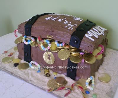 Groovy Coolest Homemade Treasure Chest Cakes Funny Birthday Cards Online Elaedamsfinfo