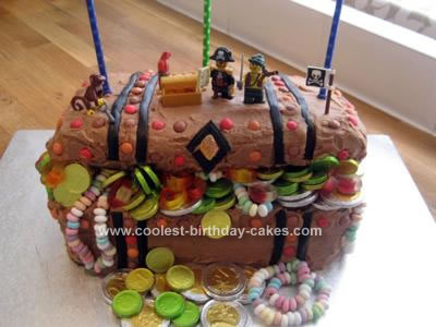 Homemade Treasure Chest Cake