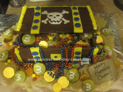 Homemade Treasure Chest Cookie Cake