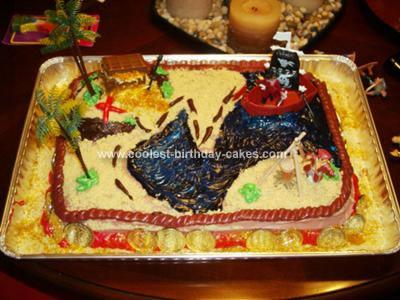 Koby Blue Beards Treasure Map Cake