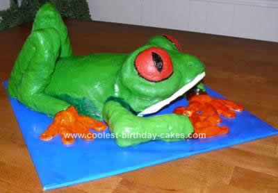 Homemade Tree Frog Birthday Cake