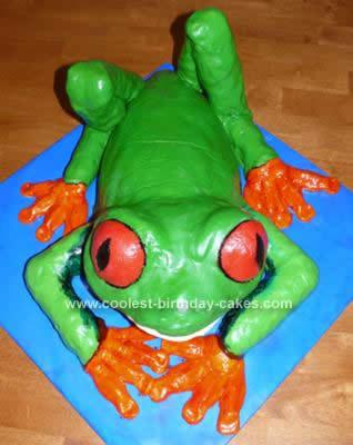 Homemade Tree Frog Birthday Cake