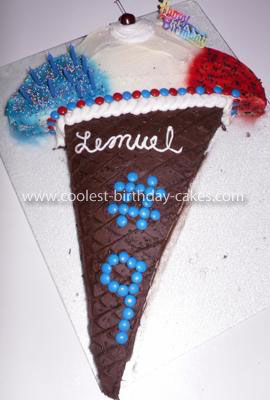 Coolest Triple Dip Ice Cream Cone Birthday Cake