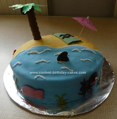 Homemade Tropical Island Cake