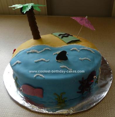 Homemade Tropical Island Cake