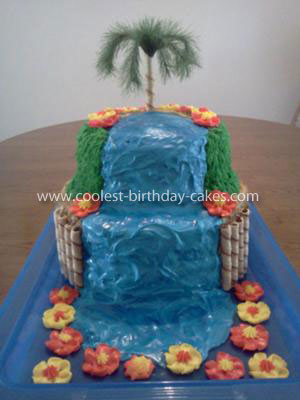 Coolest Tropical Oasis Cake