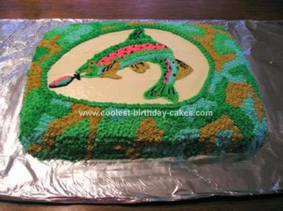 Homemade Trout Fish Birthday Cake