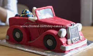 Homemade Truck Birthday Cake