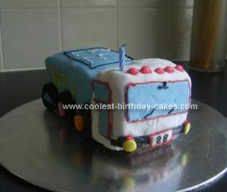 Homemade Truck Birthday Cake