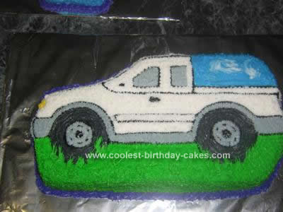 Homemade Truck Birthday Cake Design