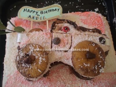 Homemade Truck Cake