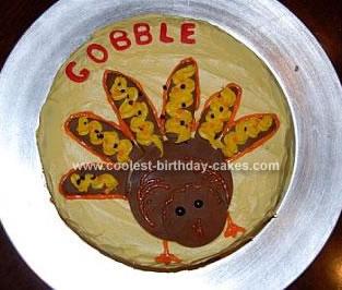 Homemade Turkey Cake