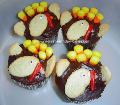 Homemade Turkey Cupcakes