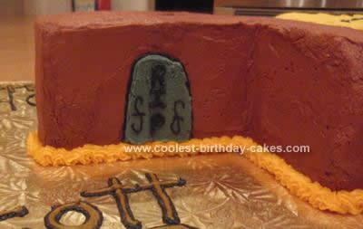 Homemade Turning 40 Birthday Cake