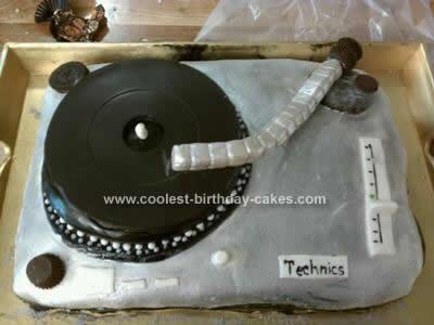 Homemade Turntable Birthday Cake Design