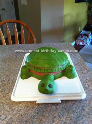 Homemade Turtle Birthday Cake