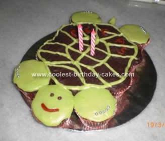 Homemade Turtle Pull-Apart Birthday Cake