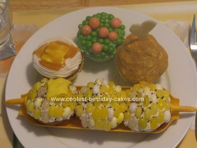 Homemade TV Dinner Cake