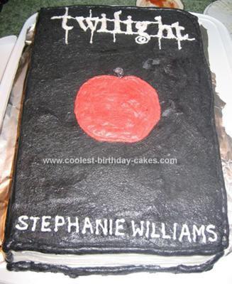 Homemade Twilight Book Cake
