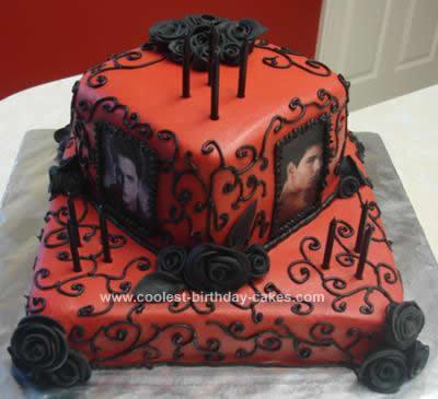 Homemade Twilight Edward and Jacob Cake