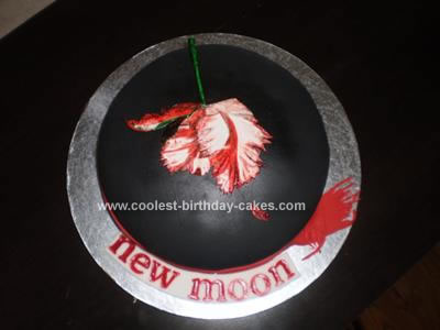 Homemade Twilight New Moon Cake