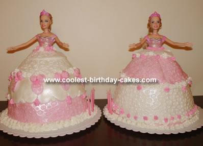 Twin Princess Barbie Cakes