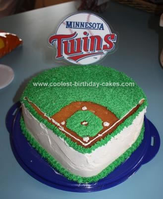 Admirable Coolest Twins Baseball Cake Funny Birthday Cards Online Elaedamsfinfo