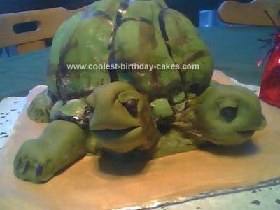 Homemade Two Headed Turtle Cake