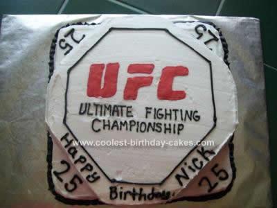 Homemade UFC Birthday Cake Design