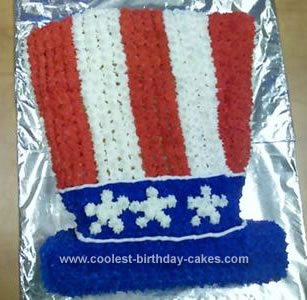 Homemade Uncle Sam Hat Cake