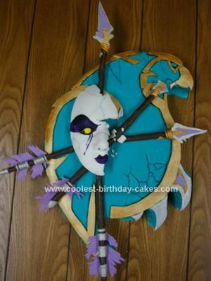 Homemade Undead Crest Birthday Cake