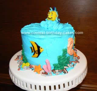 Homemade Under Sea Birthday Cake