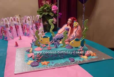 Homemade Under the Sea Adventure Birthday Cake