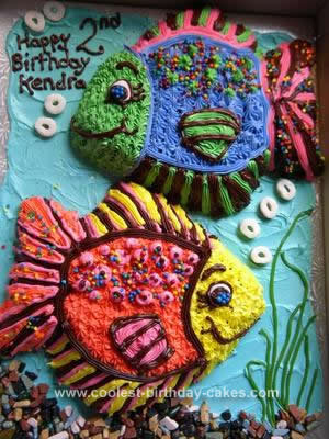 Homemade Under The Sea Birthday Cake