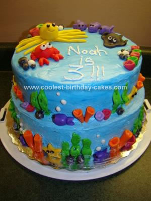 Homemade Under the Sea Cake