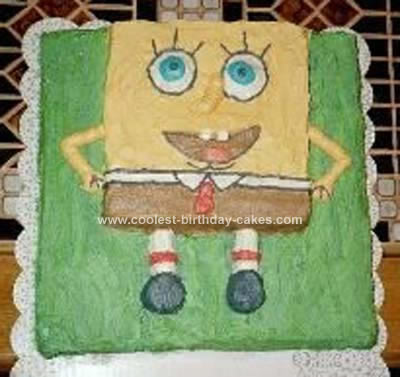 Homemade Under the Sea Spongebob Birthday Cake